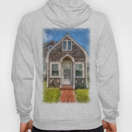 Cape Cod Cottage Watercolor Hoody