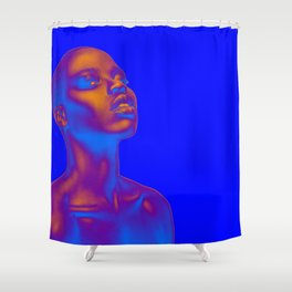 Colored Summer Shower Curtain
