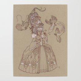 Baroque Bird Lady Poster
