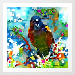 A Little Birdie Told Me... Art Print