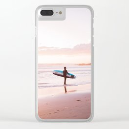 Venice Beach Surfer Clear iPhone Case