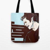 stiles stilinski Tote Bags featuring stiles no2 by kala
