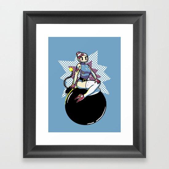 Bomber Babe Framed Art Print