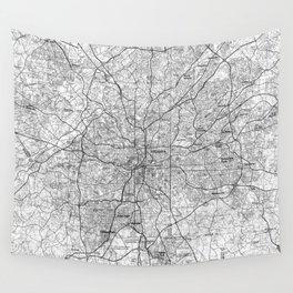 Atlanta Georgia Map (1981) BW Wall Tapestry