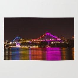 Rainbow Bridge at Night Rug