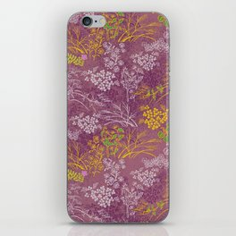 Japanese pattern floral purple iPhone Skin
