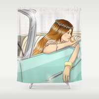 car Shower Curtains featuring Car by Lotty