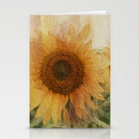 sunflower Stationery Cards featuring sunflower by VanessaGF