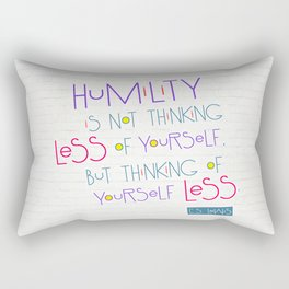 Humility Rectangular Pillow