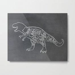 Tyrannosaurus, Rex Dinosaur (A.K.A. T REX) Butcher Meat Diagram Metal Print