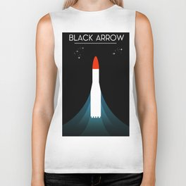 Black Arrow Space Art Biker Tank