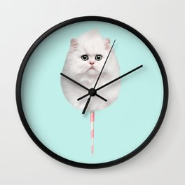 COTTON CANDY CAT Wall Clock