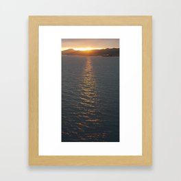 Roatan Sunset Departure Framed Art Print