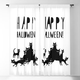 HAPPY HALLOWEEN poster Blackout Curtain