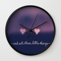 one direction Wall Clocks featuring ONE DIRECTION by SUNLIGHT STUDIOS  Monika Strigel