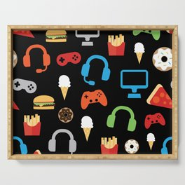 Video Game Party Snack Pattern Serving Tray