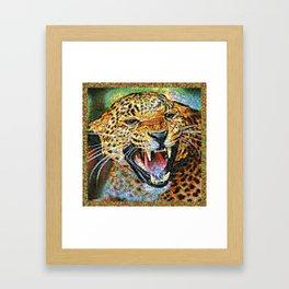 Colorful Jaguar Framed Art Print