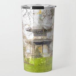 The Pagoda Battersea Park London Art Travel Mug