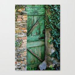 Italian Green Door Canvas Print
