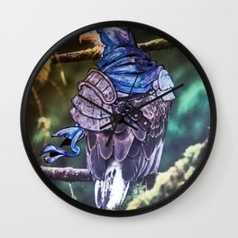 Birds In Armor 11 Wall Clock