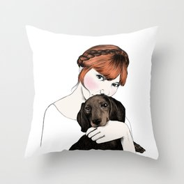Emily and Arthur Miller Throw Pillow