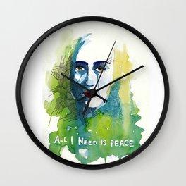All I need is peace Wall Clock