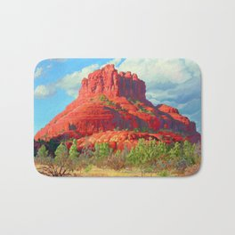 Big Bell Rock Sedona by Amanda Martinson Bath Mat