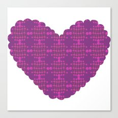 pattern with heart Canvas Print