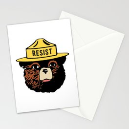 SMOKEY THE BEAR SAYS RESIST Stationery Cards