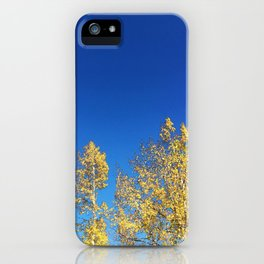 Blue Skies Fall iPhone Case