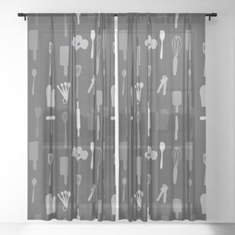 In The Kitchen — Grey Sheer Curtain