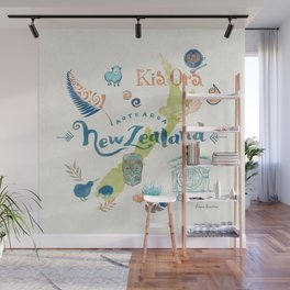 Drawings from New Zealand Wall Mural