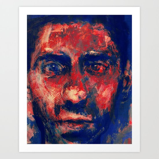 Face in Saturated Color's 4 Art Print