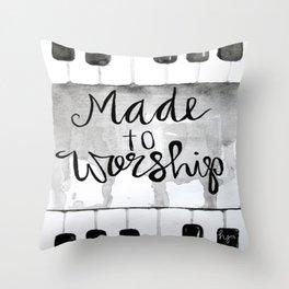 Made To Worship (tall) Throw Pillow