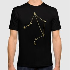 Libra x Astrology x Zodiac Black Mens Fitted Tee MEDIUM