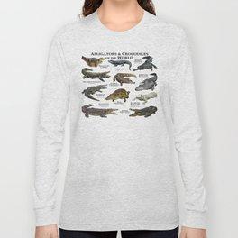 Alligators and Crocodiles of the World Long Sleeve T-shirt