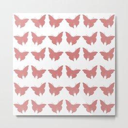 Pink Bold Mod Butterflies Metal Print