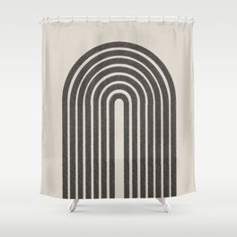 Rainbow Art, Geometric Mid Century, Shower Curtain