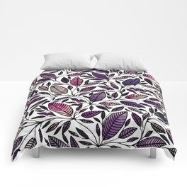 Floral Illustration - Leaf - No*45 Comforters