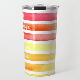 Stripy Happiness Travel Mug