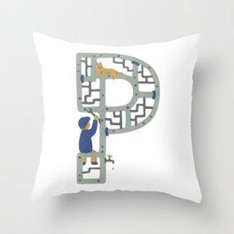 P as Plumber Throw Pillow