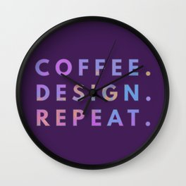 Coffee Design Repeat Wall Clock