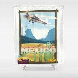 Mexico Desert vintage style travel Shower Curtain
