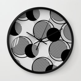 Black & Gray Circle Pattern Wall Clock