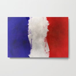 Watercolor flag of France Metal Print