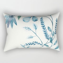 blue plants Rectangular Pillow