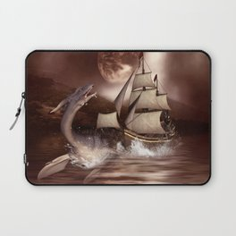 Awesome seadragon with ship Laptop Sleeve