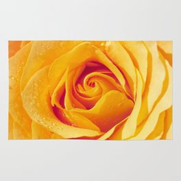 Gold Rose Bud- Yellow Roses and flowers Rug
