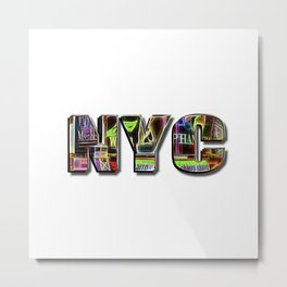 NYC (typography) Metal Print