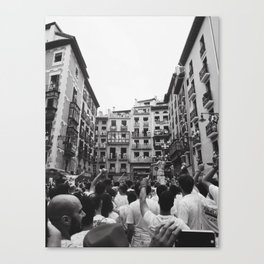 Running of the Bulls Canvas Print